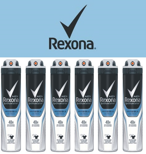 Pack 6 botes de desodorante en spray Rexona invisible Ice Fresh