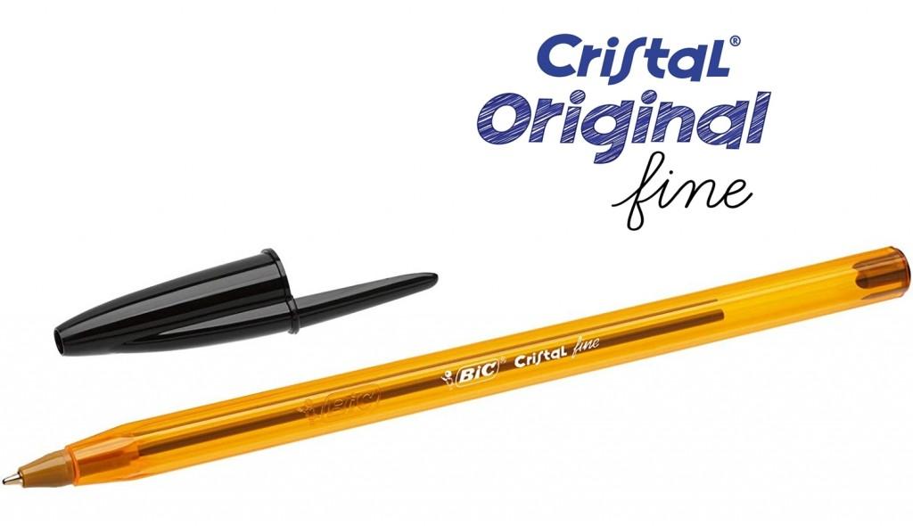 bolígrafos de punta fina BIC Cristal Original de color negro