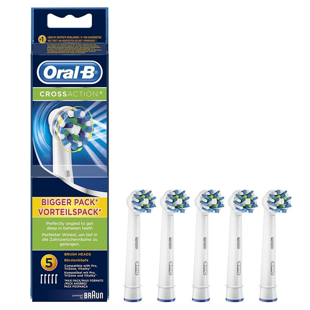 Pack de 5 cabezales de recambio Oral-B CrossAction