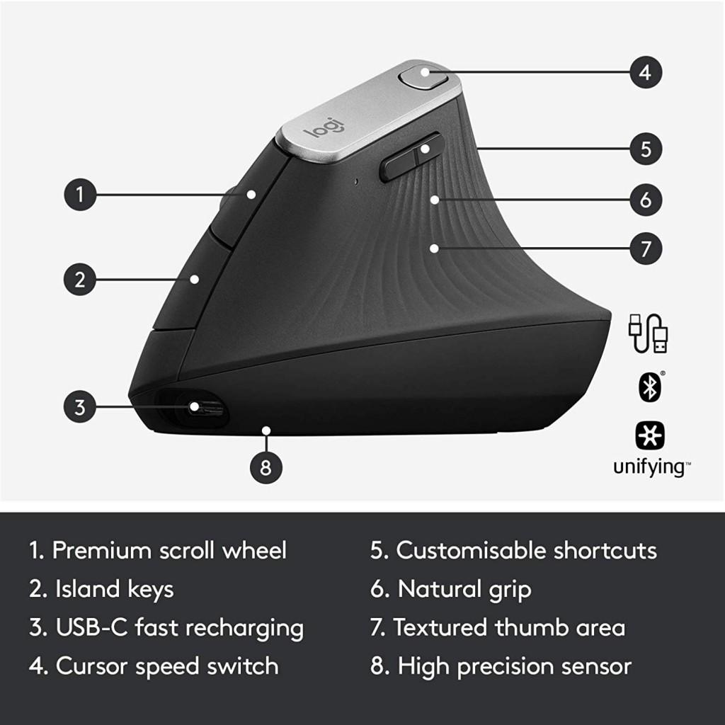 Ratón ergonómico Logitech MX Vertical