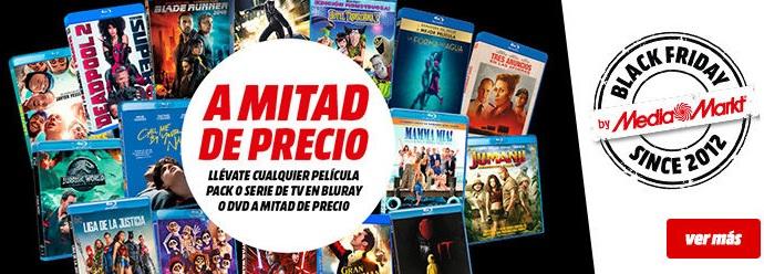 películas o series de TV en Bluray o DVD a mitad de precio