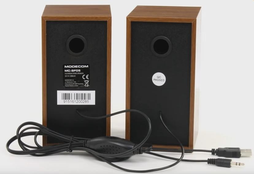 Altavoces para ordenador Modecom MC-SF05 por detrás