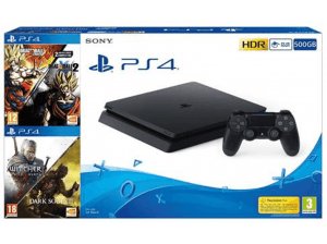 Consola PS4 Slim 500 GB, + Dragon Ball Xenoverse y Xenoverse 2