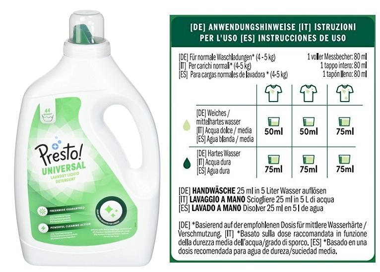 Detergente universal líquido Marca Amazon Presto!