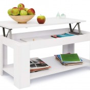 Mesa de centro elevable Comifort T09 de color blanco