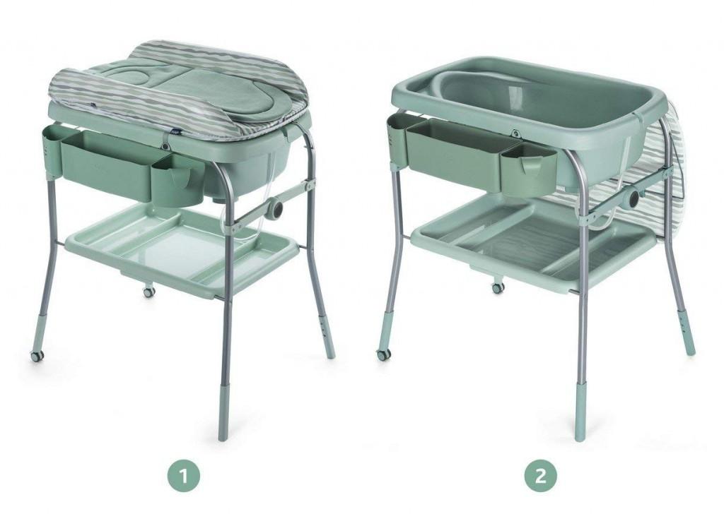 Bañera cambiador compacta 2 en 1 Chicco Cuddle & Bubble color verde
