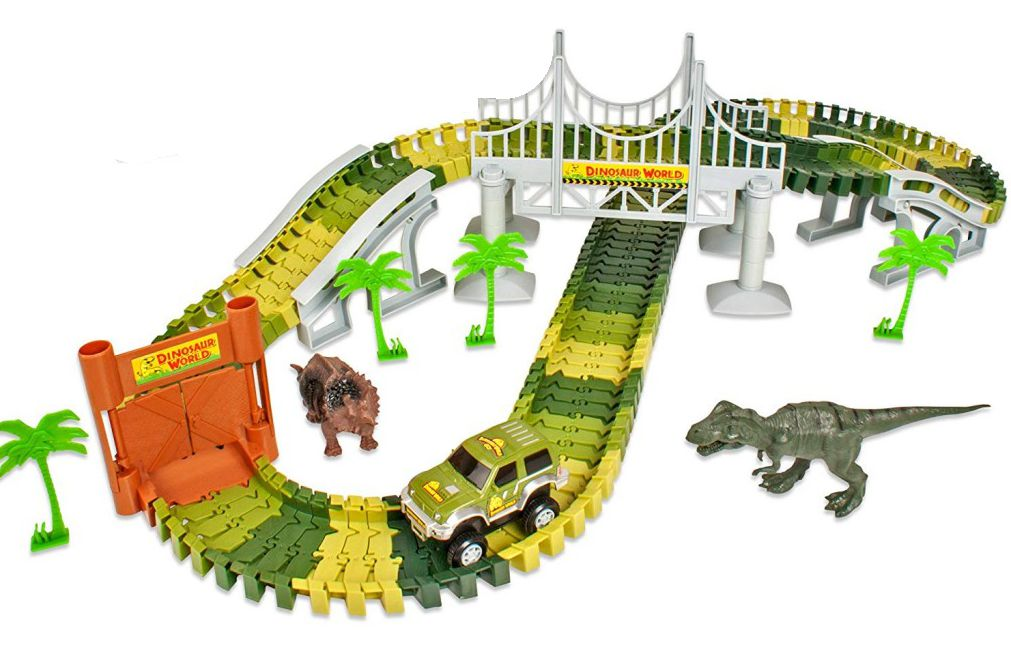 Circuito de coches Jurassic Dino World