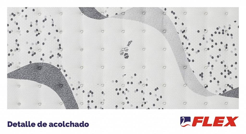 Colchón WBx 500 Bioceramics Flex Visco detalle acolchado