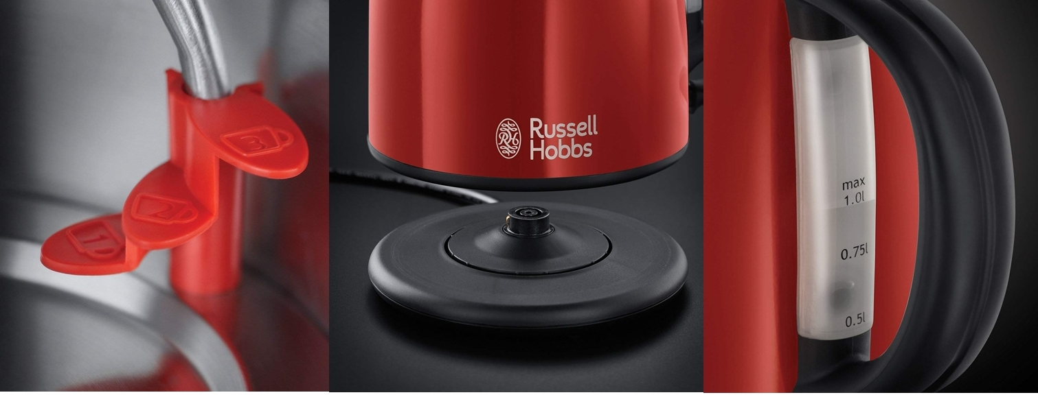 Hervidor de agua Russell Hobbs 20191-70 color rojo