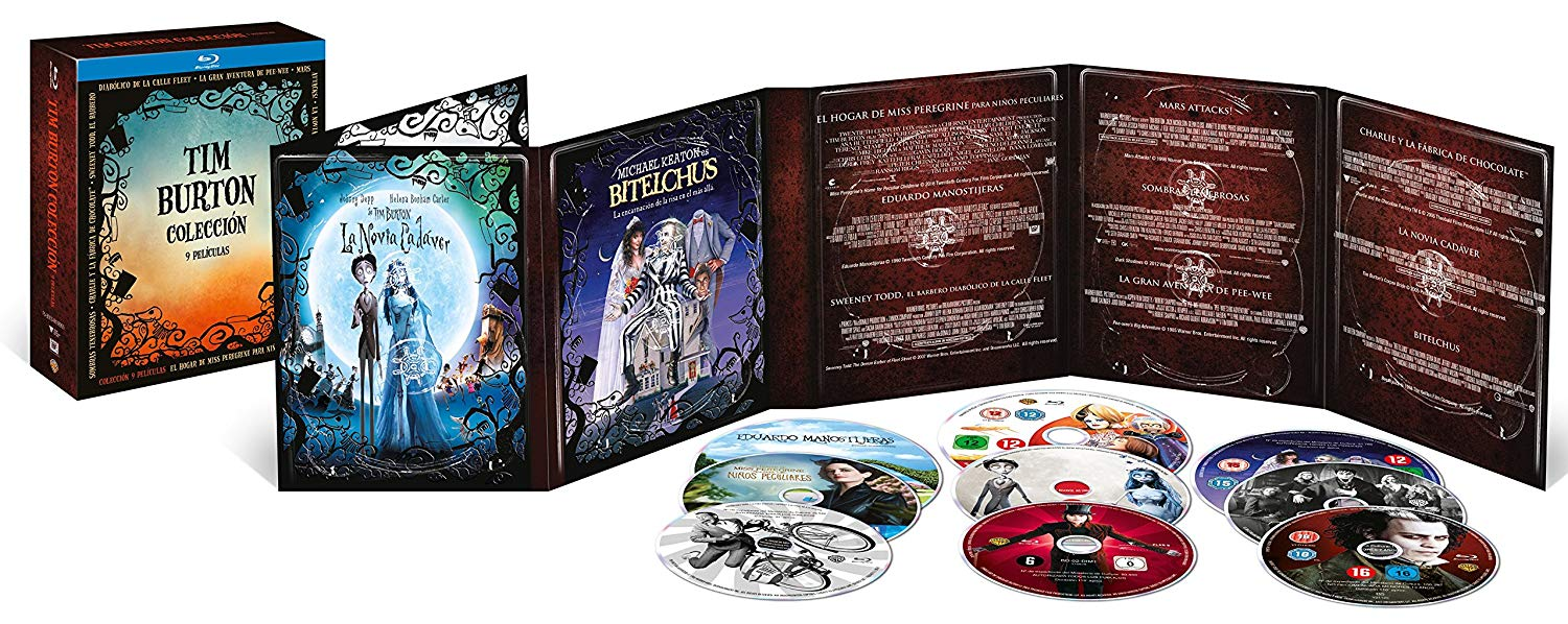 Pack Tim Burton en Blu-Ray