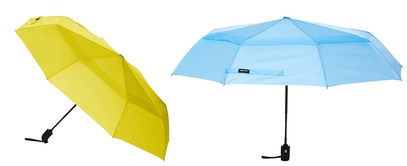 Paraguas cortavientos AmazonBasics varios colores
