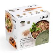 Recipiente para cocinar quinoa, arroces y cereales Lékué