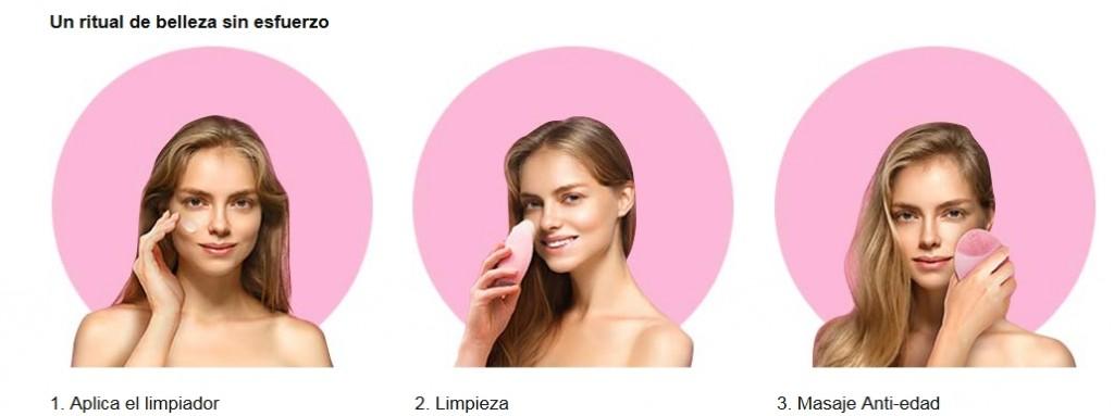 Foreo Luna, uso cepillo facial