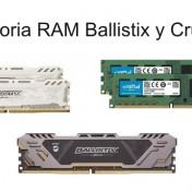memoria RAM Ballistix y Crucial