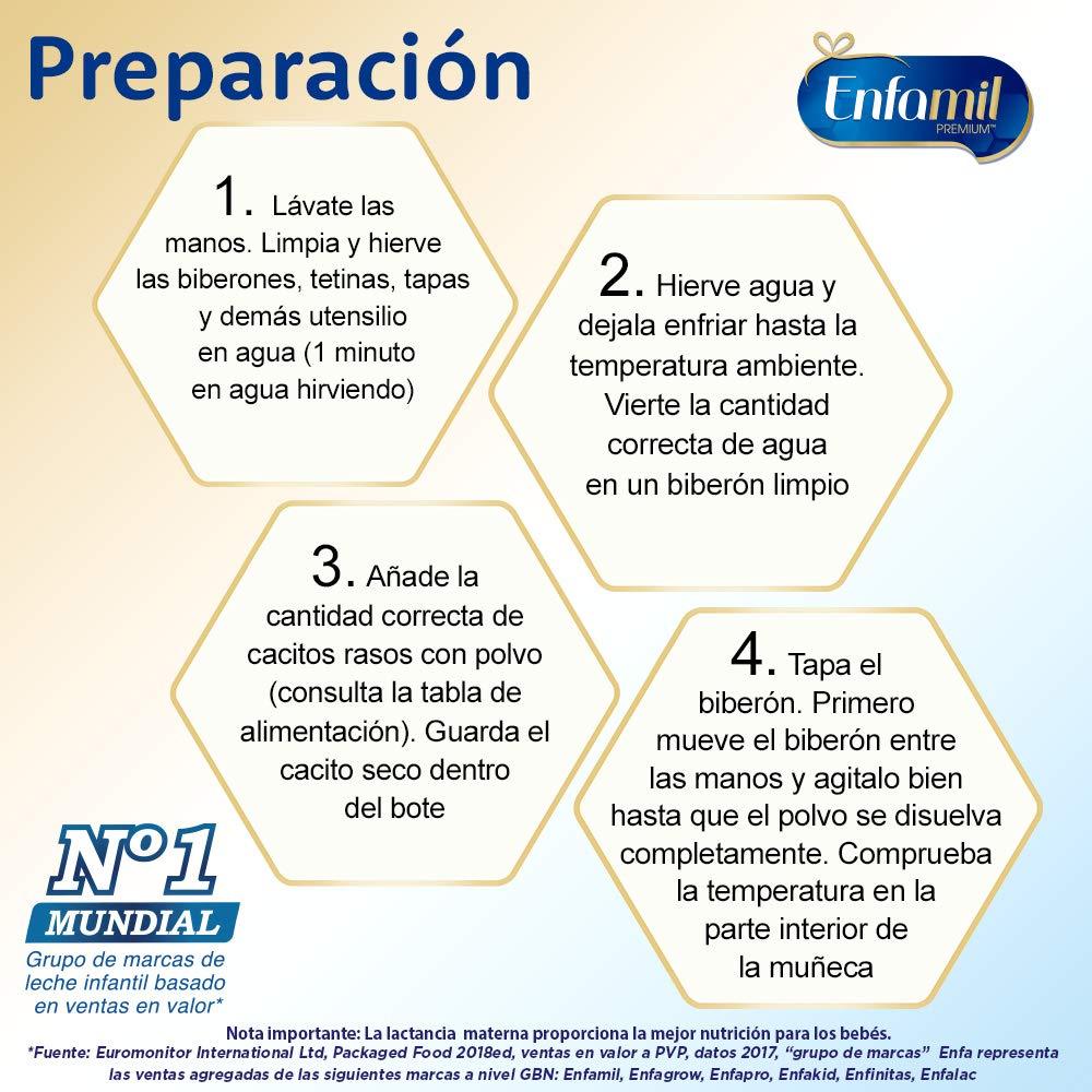 Leche de continuación Enfamil Premium 2 preparación