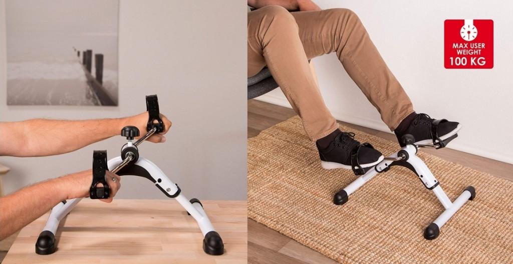 Minibicicleta estática plegable Ultrasport MPE 25 para brazos y piernas