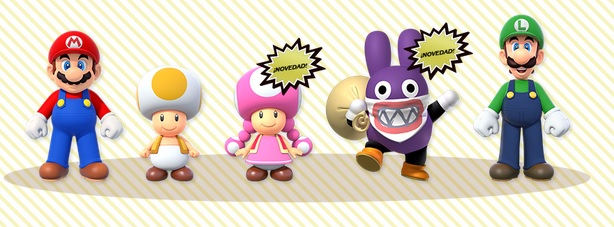 New Super Mario Bros. U Deluxe cinco personajes