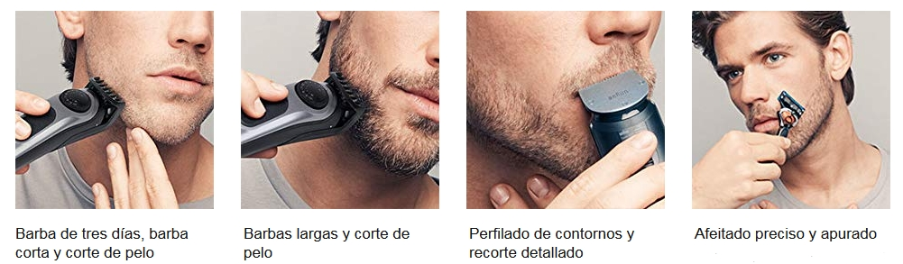 Recortador de barba y cortapelos Braun BT7040 detalles