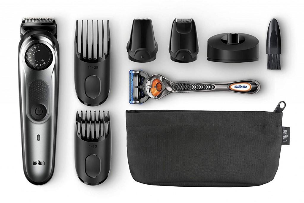 Recortador de barba y cortapelos Braun BT7040 todo lo que incluye