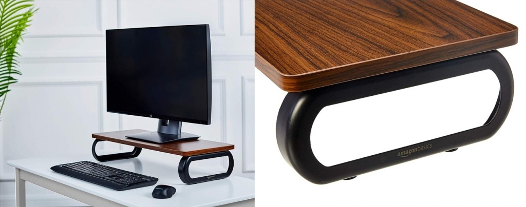 Soporte de madera para monitor AmazonBasics DS101