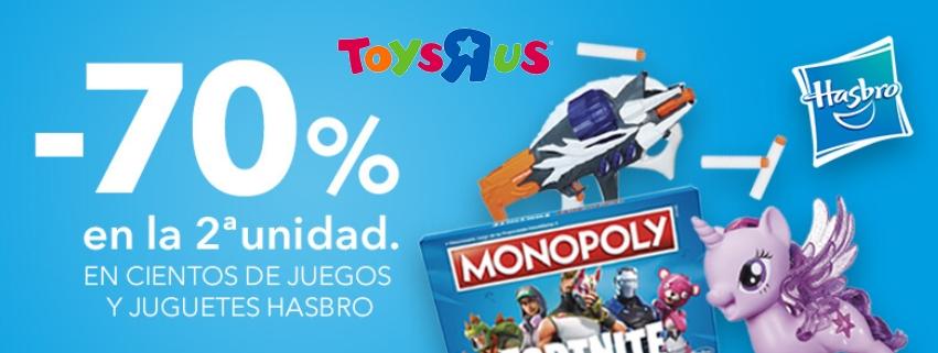 Descuento del 70% en 2ª unidad en la marca Hasbro