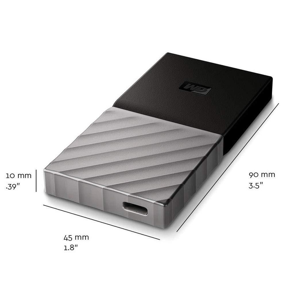 SSD portátil WD My Passport de 2 TB dimensiones