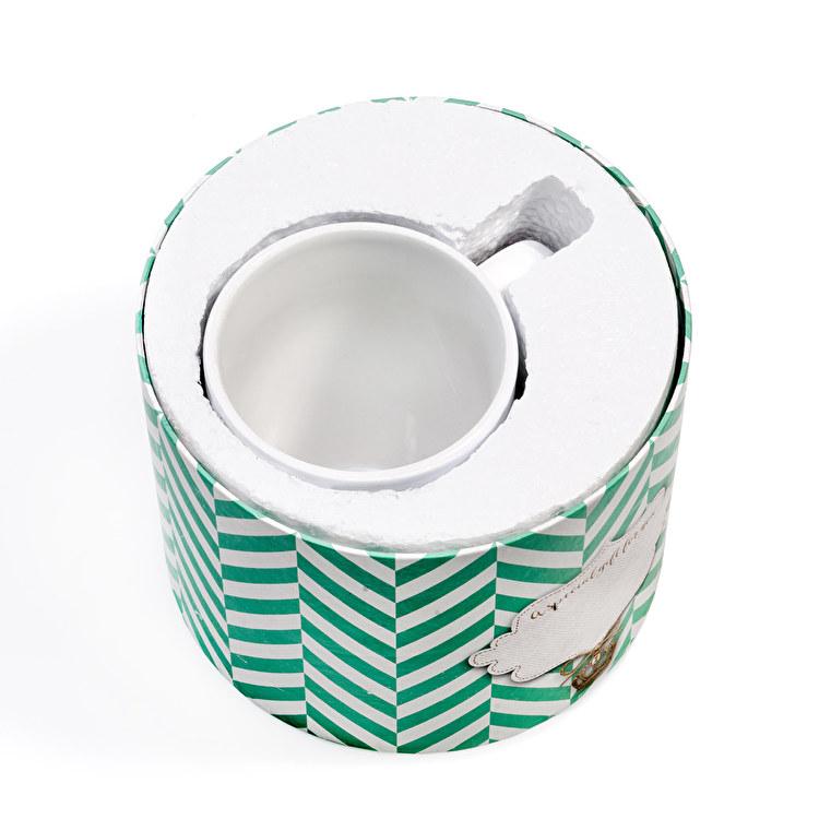 Taza de cerámica personalizada con caja Gift, por dentro