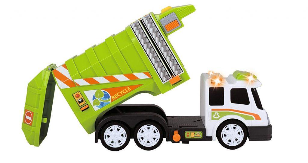 Camión de basura con luz y sonido Dickie, detalles