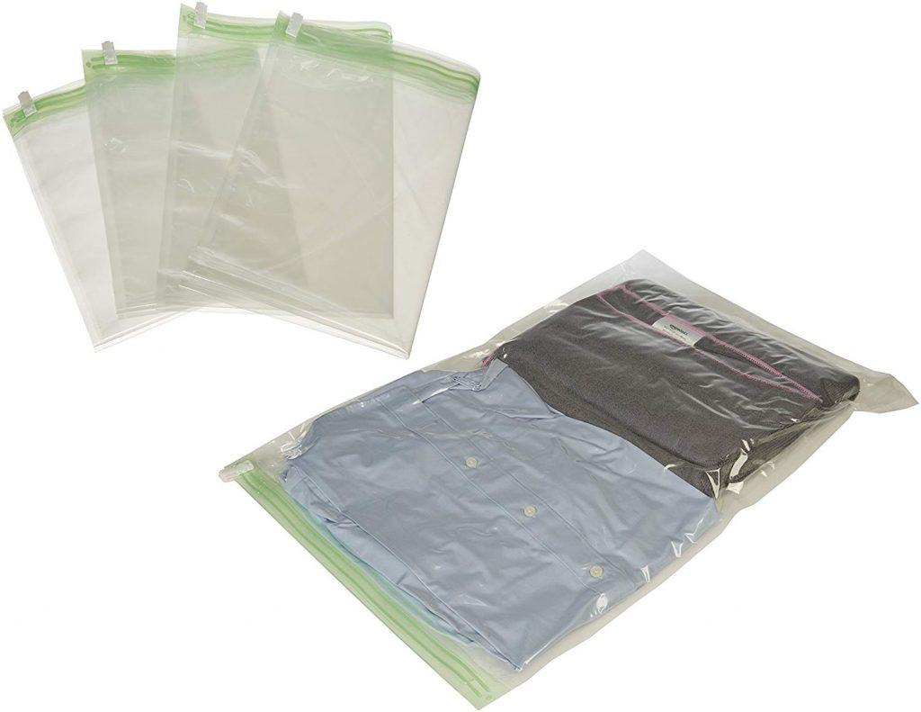 Pack 8 bolsas de compresión de viaje AmazonBasics