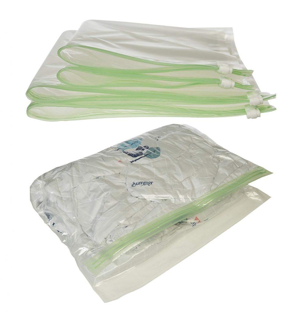 Pack 8 bolsas de compresión de viaje AmazonBasics dos tamaños