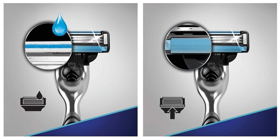 Pack maquinilla de afeitar Gillette Mach 3 con 12 recambios, detalles