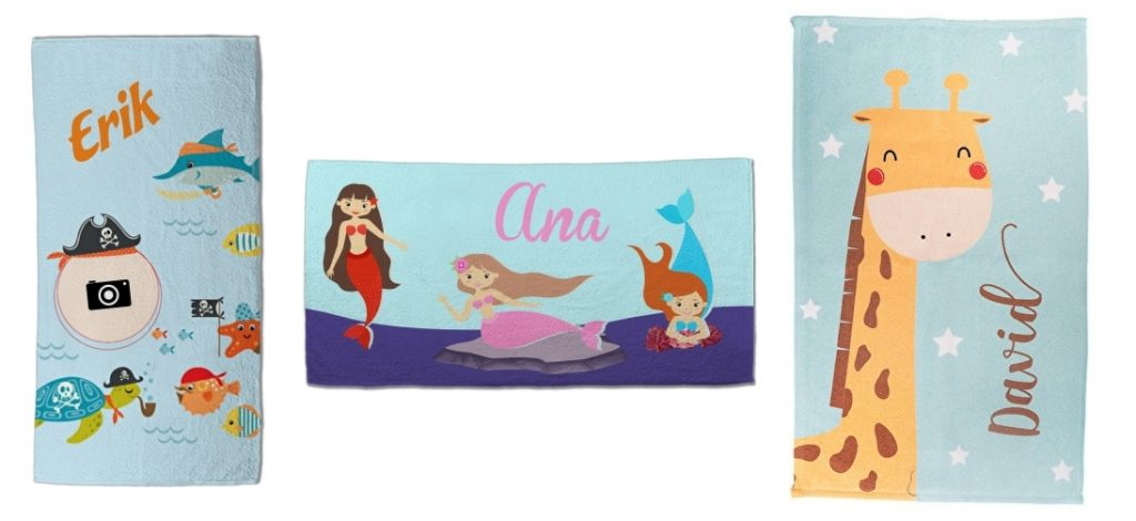Toallas de playa rectangular personalizada
