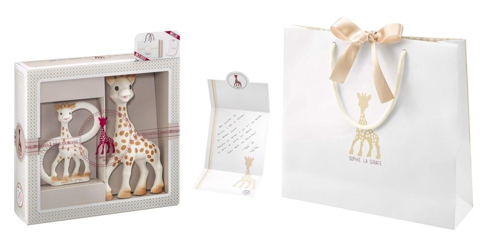 Mi primer set y anillo de dentición Sophie La Girafe con bolsa de regalo