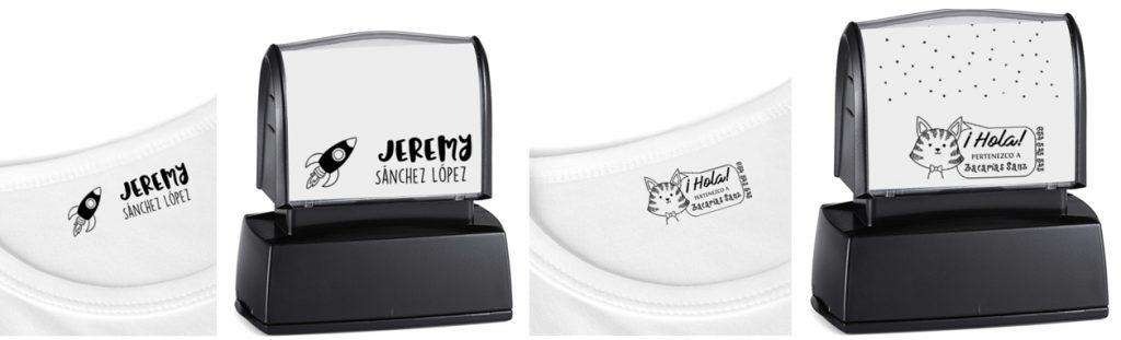 Sellos personalizados para marcar ropa algunas plantillas