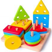 Apilador figuras geométricas de madera Rolimate