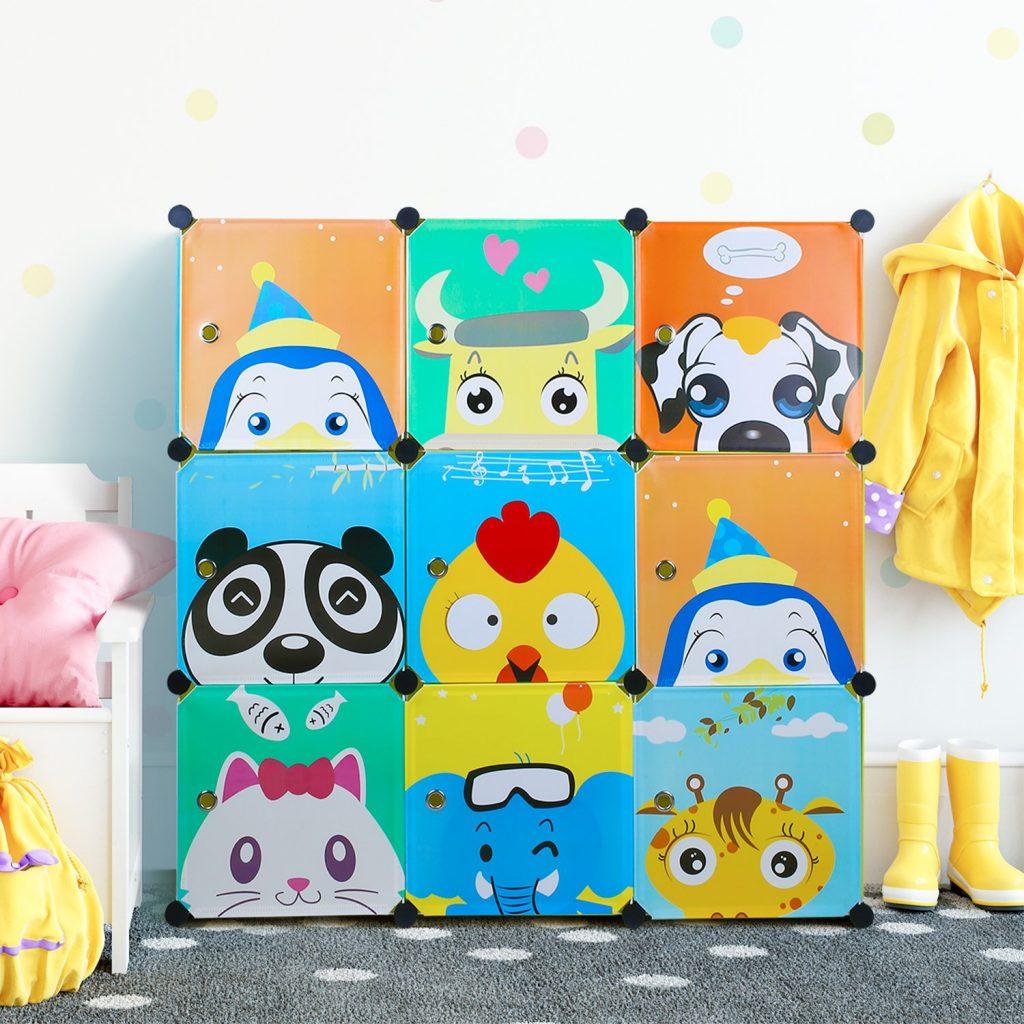 Armario modular infantil Bamny color azul