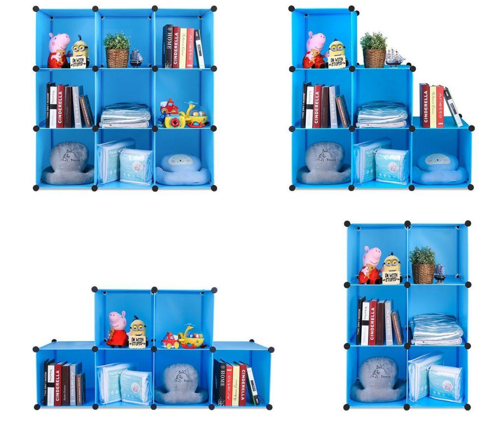 Armario modular infantil Bamny, varios modos de montaje