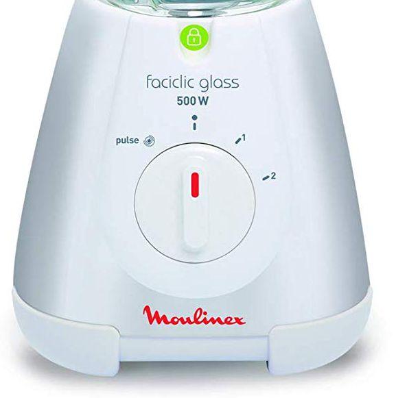 Batidora de vaso Moulinex Faciclick LM310113, con funcion pulse