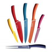 Juego cuchillos de colores con funda protectora hecef