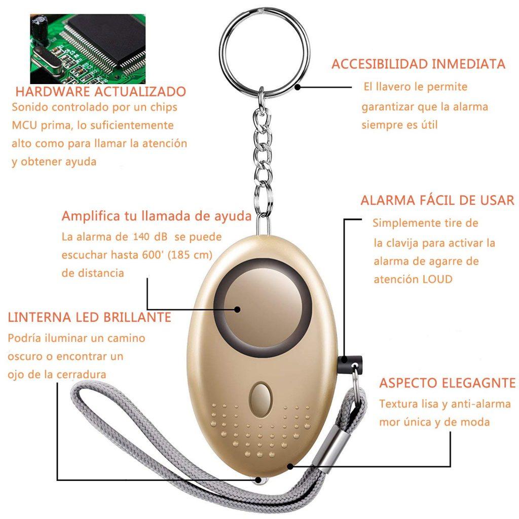 Pack 3 alarmas personales UZOPI, características