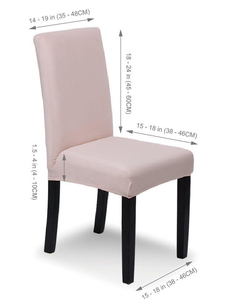 Pack 4 fundas para sillas SaintderG, medidas