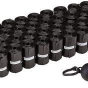 Pack 600 bolsas para excrementos de perro con dispensador y clip para correa AmazonBasics