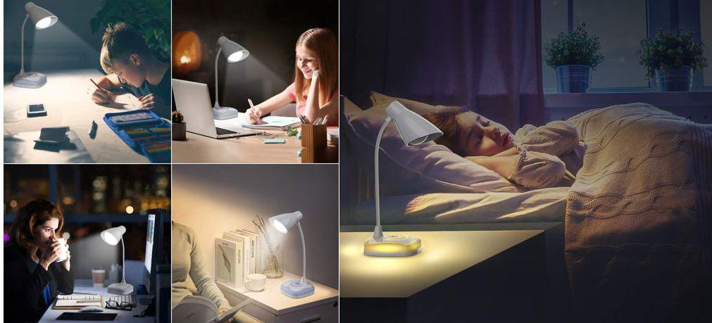Lámpara de escritorio recargable OMERIL, varios modos de iluminación