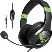 Auriculares gaming AmazonBasics verde