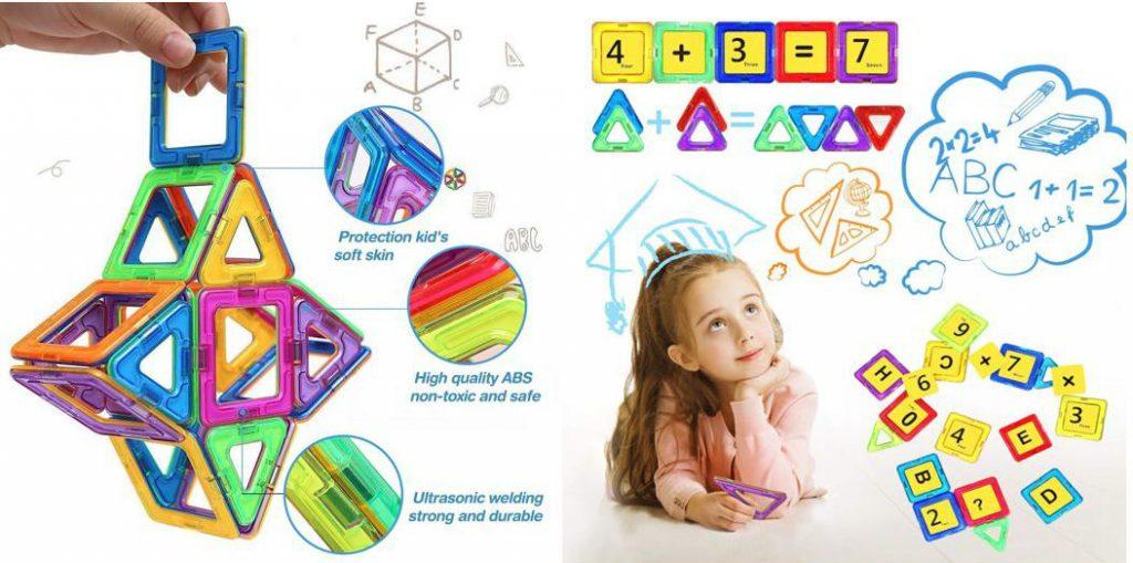 Bloques de construcción magnéticos 3D LOORI, también con números y letras