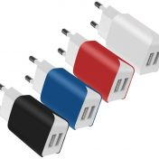 Pack 4 cargadores de pared USB SCHITEC