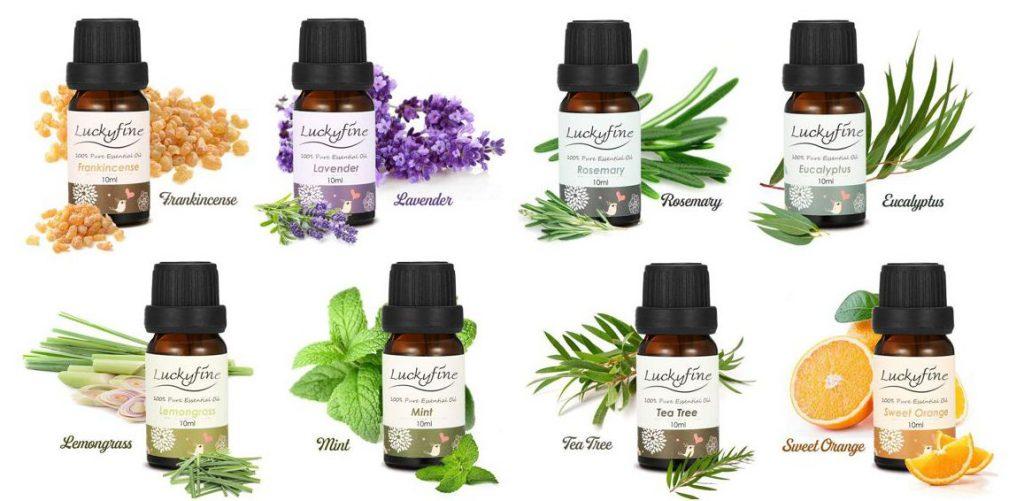 Pack de 8 aceites esenciales Luckyfine
