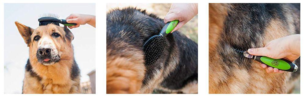 Set 3 cepillos para mascotas PET MAGASIN, para mascotas con pelo