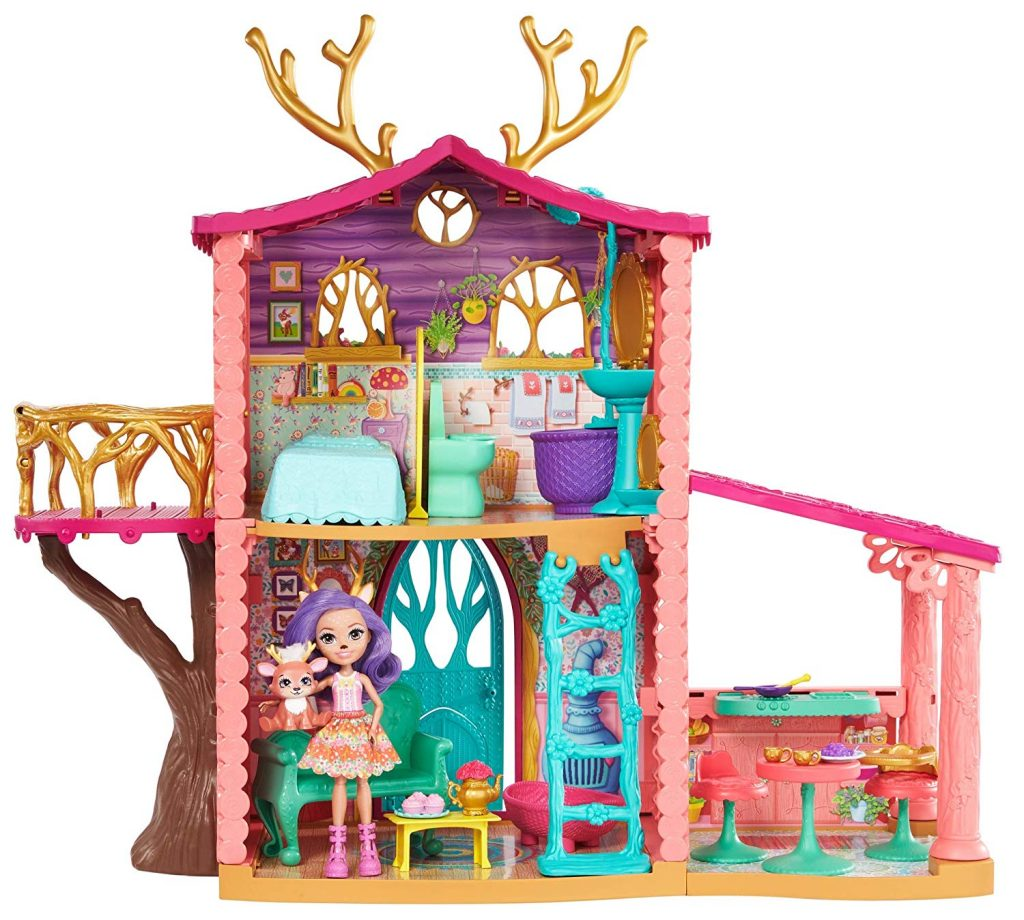 Supercasa del bosque y muñeca Danessa Enchantimals Mattel FRH50