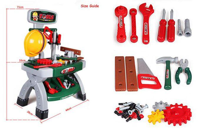 Taller mecánico de juguete deAO, medidas